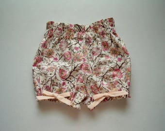 Wild Flowers Bloomer Bow Shorts by Papoose Clothing