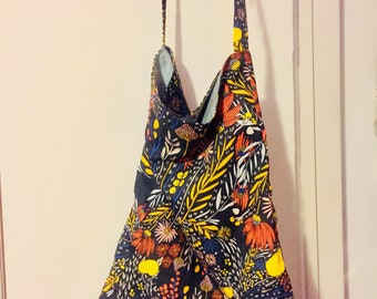 Lined Tote Bag with Magnectic Snap Closure