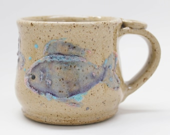 Fish Mug, Ready To Ship, Purple and Blue Fish Mug