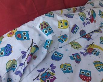 Owls duvet cover owl print bedding animal print Twin /Queen/ double Cal King super oversized king duvet cover Nurdanceyiz custom bedding