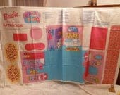 Barbie Fold and Go Bathroom panel pattern