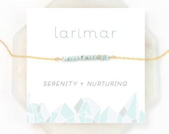 Larimar Choker Necklace, Summer Jewelry, Beaded Layering Necklace, Beach Wedding, Surfer Jewelry, Healing Stone, Raw Crystal, Inspirational