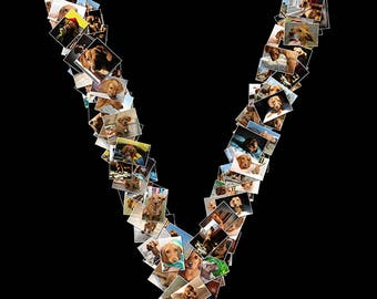 Personalized Web Letter Photo Collage | Facebook Profile Image | Your Images in a letter | Digital Download | Gift