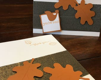 Fall leaves - set of 2 cards