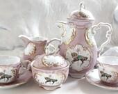 Green or Pink & Gold Unicorn Tea Set, Unicorn Teacup, Unicorn Tea Party, Horse Tea Set, Horse Teacup, Custom Teacup, Fantasy Tea Set