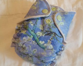 Almond Blossoms OBV Newborn Fitted Diaper