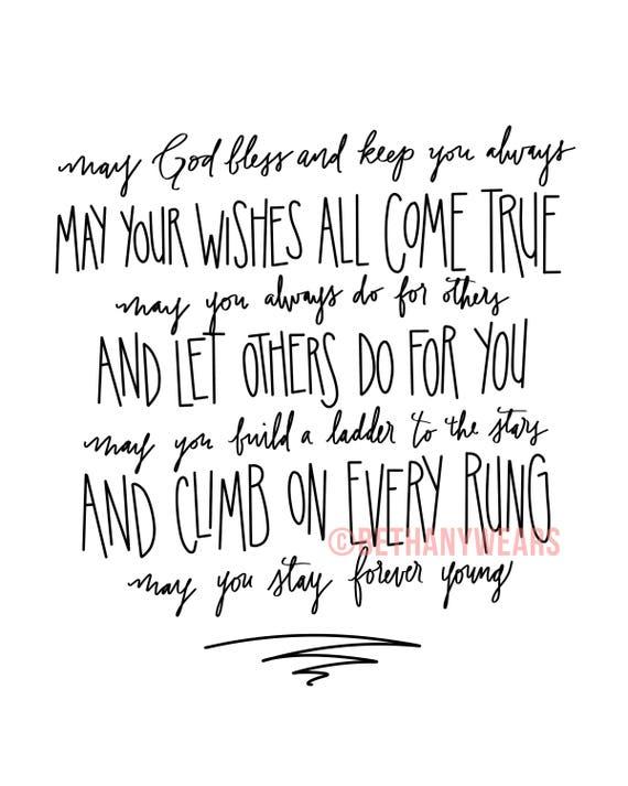 Forever Young Bob Dylan lyrics