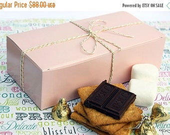GLAMSALE Bulk Party Favor Boxes, Blush Pink Candy Boxes, Cookie Boxes, Gift Boxes, Pink Wedding Favor Boxes - 175 Half Pound Size