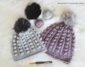 Bobble Beanie Crochet Pattern, Bobble Toboggan Crochet Pattern, Crochet Hat Pattern, Easy Crochet Hat Pattern