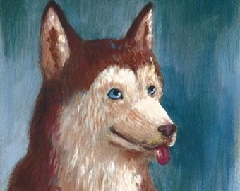 Happy Dog (acrylic painting)