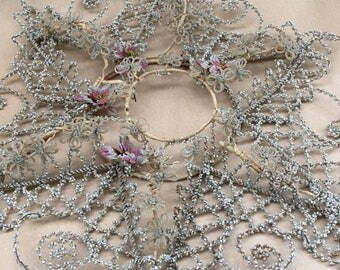 This Antique Beaded French Salvaged Mourning Wreath Is To Die For