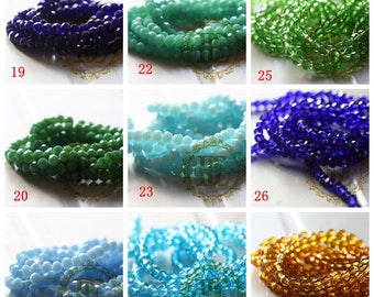 One Strand Chinese Crystal / Glass Crystal / Round / Near Round / Faceted Round 4mm (G11B)