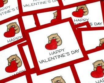 Classroom Valentines- Bear Valentines- Kids Valentines- Classroom Valentine Cards- Valentine Set- Happy Valentines Day- Valentines Day Cards