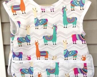 Child's Art Smock - Llamas Craft Apron