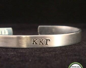 SALE CIJ2017 Kappa Kappa Gamma Thin Cuff - Official Licensed Product for Kappa Kappa Gamma - Aluminum or Sterling Silver