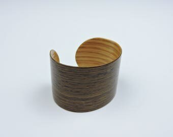 Wenge and White oak Veneer Bracelet (small)