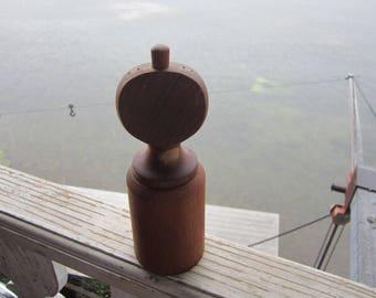 Dansk tall pepper mill salt shaker mid century wood pepper grinder