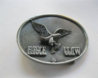 Eagle Claw Belt Buckle. Fishing. Outdoors. Made in USA