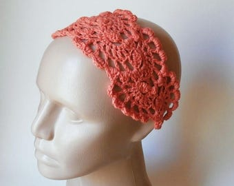 ON SALE 15 % SALE Crochet  Bandana - Crochet HairBand - HeadBand - Hair Accessories - Crochet HairBand in Orange