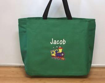 Personalized Choo Choo Train Tote Bag Baby Diaper Bag