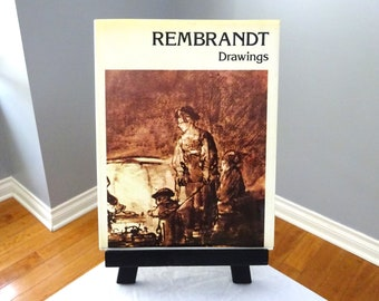 """Vintage """"REMBRANDT Drawings"""" hardback coffee table book written by Paul Nemo"""