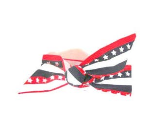 Baby Girl PATRIOTIC KNOT HEADBAND  Infant Baby Toddler/Child Adult  Americana Headwrap