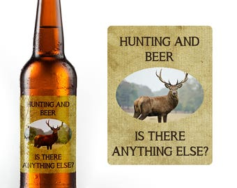Hunting and Beer - Is There Anything Else? 6 Waterproof Beer Bottle Labels