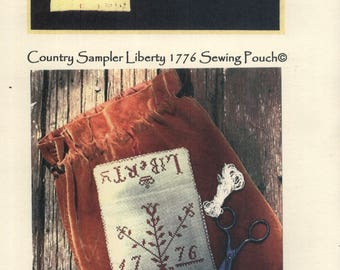 Stacy Nash Primitives: Country Sampler Liberty 1776 Sewing Pouch (OOP) - a Club Project Cross Stitch Kit
