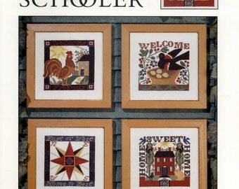 The Prairie Schooler: Welcome Home #92 (OOP) - an Original Cardstock Cross Stitch Pattern