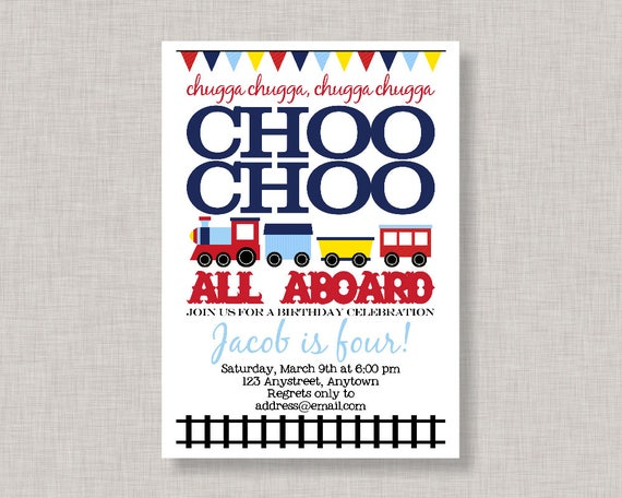 Train Birthday InvitationTrain InvitationTrain Birthday Party