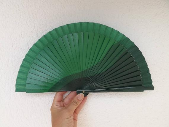 Three Tone Green Design Spanish Hand Fan Limited Edition
