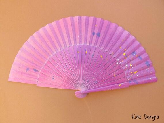 Disco Splash Hand Fan