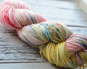 Hand Dyed Superwash Merino Wool Yarn - Worsted weight - Rhododendron