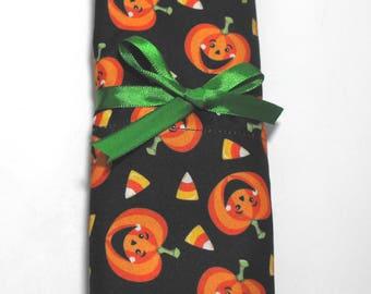 Halloween Pillowcase, Standard Size Pillow Case with Pumpkins and Candy Corn
