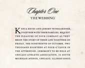 Love Story Wedding Invitation Suite - Reserved Listing for Jeremy & Kenia (50 count)