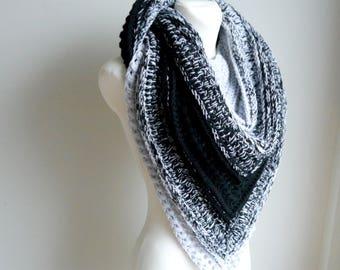 Crochet Shawl / Crochet Shawl Wrap / Christmas Gift / Crochet Scarf / Oversize scarf / Wrap / Knitted Scarf / gift for her / Mandala scarf