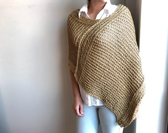 Knitting Pattern / Knitting Shrug Pattern / Knitting Poncho Pattern / Knitting Pattern Wrap / Pattern instant Download
