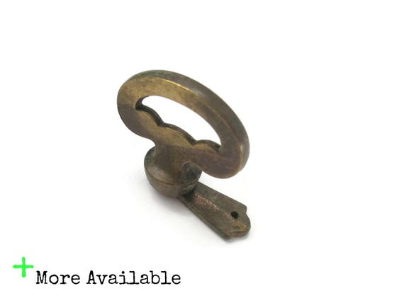 Vintage faux key knob pulls for cabinet door or drawer front for Key drawer handles