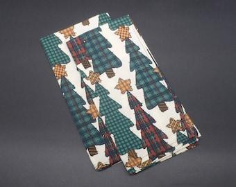 Country Christmas Trees, Christmas Dinner Napkins, Holiday Napkins, Hostess Gift, Christmas Gift, Christmas Wedding Gift