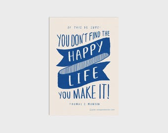 Happy Life Art Print