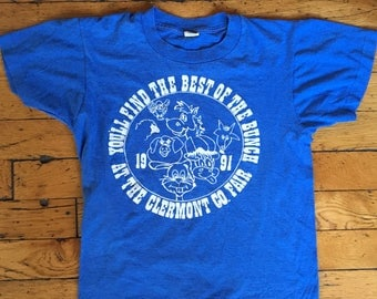 1991 Clermont County Fair kids t shirt USA 14-16