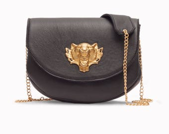 KORA Leather handbag, leather crossbody bag, leather shoulder bag, evening bag, handmade leather bag.