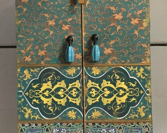 Moroccan inspired Cabinet, jewelry box,keepsake box, wedding gift, medicine cabinet