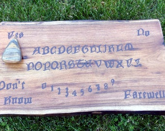Ouija Board Gothic Pagan Witchcraft Occult Ghost Hunting Paranormal Spirit Game With Pointer Planchette Wood Wooden Spooky Talking Board