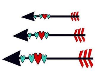 Valentineu0027s Tribal Arrow Multi Colored Instant Digital Download Embroidery  Design Tribal Arrow 3 Design Sizes