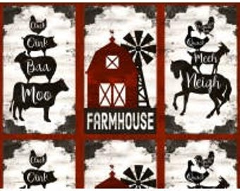 Fabric by the Yard - HOMESTEAD - Panel