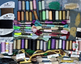 80+ Spools | Metallic and Silk Floss | KREINIK | AVAS | DMC | Rainbow Gallery | Cross Stitch | Hardanger | Needlepoint | Needlework