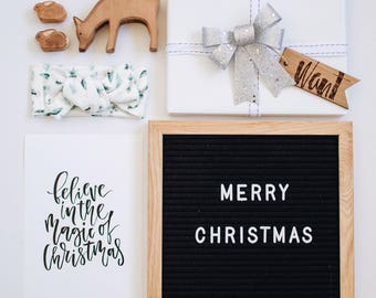 Reusable Christmas Holiday gift tags - laser cut wood - Four gifts Something you want Something you need Something to wear Something to Read