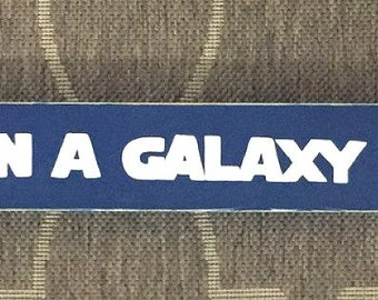 Long Ago In A Galaxy Far, Far Away Sign Plaque Star Wars Movie Bedroom Geek Nerdy Dorm Room Decor OVERSIZED