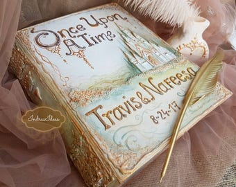 Once upon a Time Wedding Guest Book, Fairy tale Wedding guest book, Disney wedding guest book, Cinderella wedding, castle wedding
